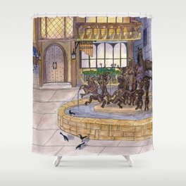Early Morning at the Eolian Shower Curtain