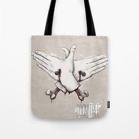 rap Tote Bags featuring Rap Won't Save You by Davies Babies