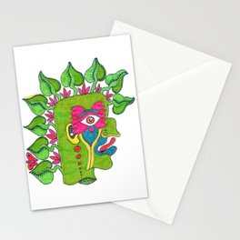 Pre-Columbian God Stationery Cards