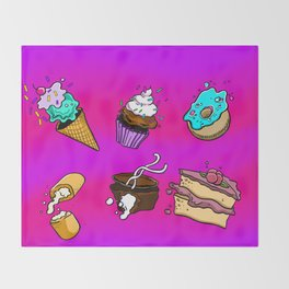 Exploding Desserts Throw Blanket