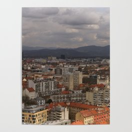 Over The Rooftops of Ljubljana Poster