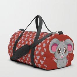Kawaii anime grey mouse or rat design Duffle Bag