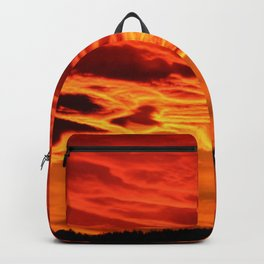 Flame Coloured Sunset Sky Backpack
