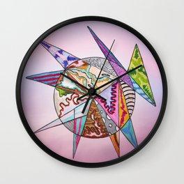 fantastic geometrical forms -6- Wall Clock