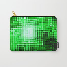 Nebula Pixels Emerald Green Carry-All Pouch