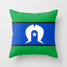Torres Strait Islander people ethnic flag Throw Pillow