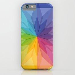 Fig. 047 Colorful Rainbow Geometric Kaleidoscope iPhone Case