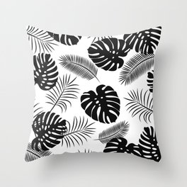 TROPICAL LEAVES 7 Throw Pillow