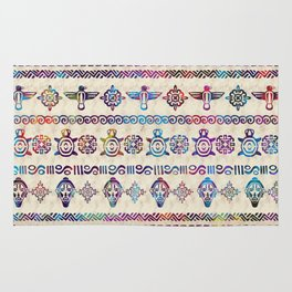 Maya / Aztec Gentle Watercolor pattern Rug