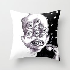 It's a starry coffeenight Throw Pillow