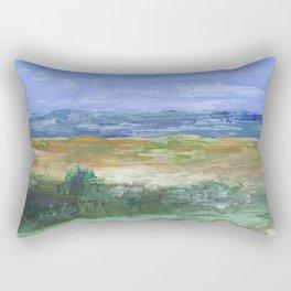 Abstract Beach Acrylic Painting Rectangular Pillow