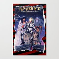 Beetlejuice: Ripped and Torn Greatness! Canvas Print