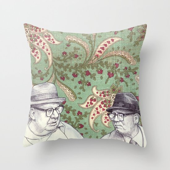Old Men Throw Pillow