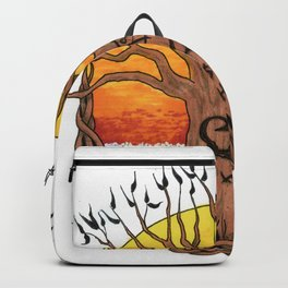 Logo, Sunset Ocean Variant Backpack