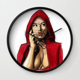 Monica Bellucci - Little Red Riding Hood 2 Wall Clock
