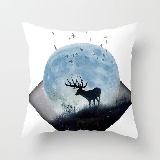 blue moon spill Throw Pillow