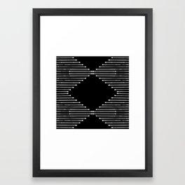 Geo / Black Framed Art Print
