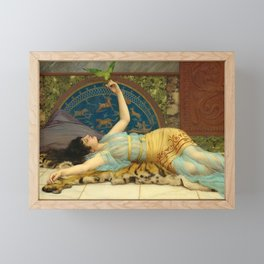 DOLCE FAR NIENTE - JOHN WILLIAM GODWARD Framed Mini Art Print