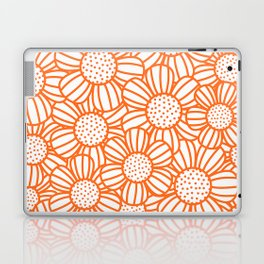 Field of daisies - orange Laptop & iPad Skin