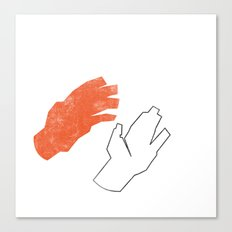Two Hands Canvas Print