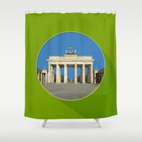 berlin Shower Curtains featuring Berlin by Matthias Hennig