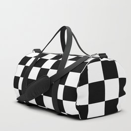 White and black cells pattern Duffle Bag