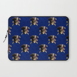 Jolly Roger In Pirate Hat Laptop Sleeve