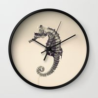 pony Wall Clocks featuring Water Pony by Fanboy30