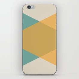 Mid Century - Yellow and Blue iPhone Skin