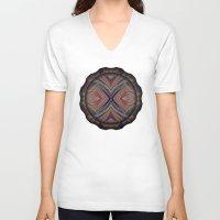 southwest V-neck T-shirts featuring Southwest Textile by David Lee