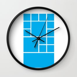 Windows Phone 8 Grid - Blue Wall Clock