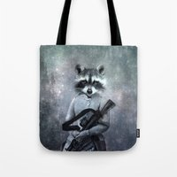 gangster Tote Bags featuring Gangster by ppatphoto