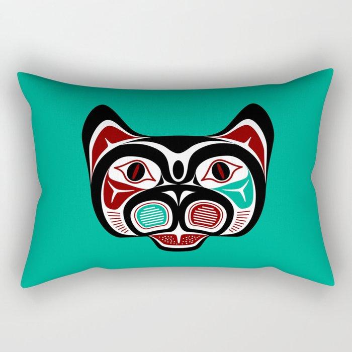 Northwest Pacific coast Haida Kitty Rectangular Pillow
