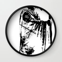 The lacrosse wizard Wall Clock