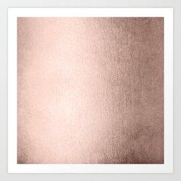 Moon Dust Rose Gold Art Print