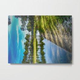 Lakeside View - Colorful Metal Print