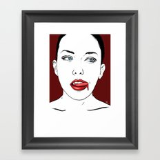 Vampire Lady #2 Framed Art Print