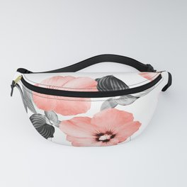Living Coral Floral Dream #4 #flower #pattern #decor #art #society6 Fanny Pack