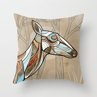 elk Throw Pillows featuring Elk by dchristo