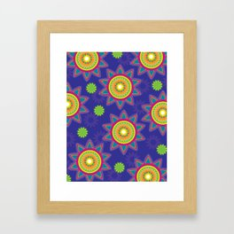 Moroccan Flower Purple Framed Art Print