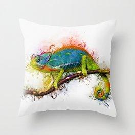 Chameleon Art Throw Pillow