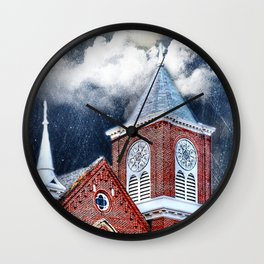 Faith and Fury Wall Clock