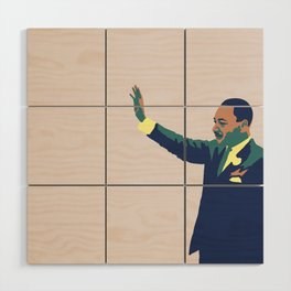 Martin Luther King Wood Wall Art