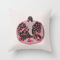 pomegranate Throw Pillows featuring Pomegranate by Georgiana Paraschiv