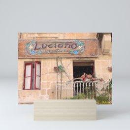 Luciano's Pizza Mini Art Print
