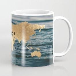Gold Map in Water Coffee Mug