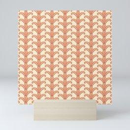 Autumn Leaves Column Pattern Mini Art Print