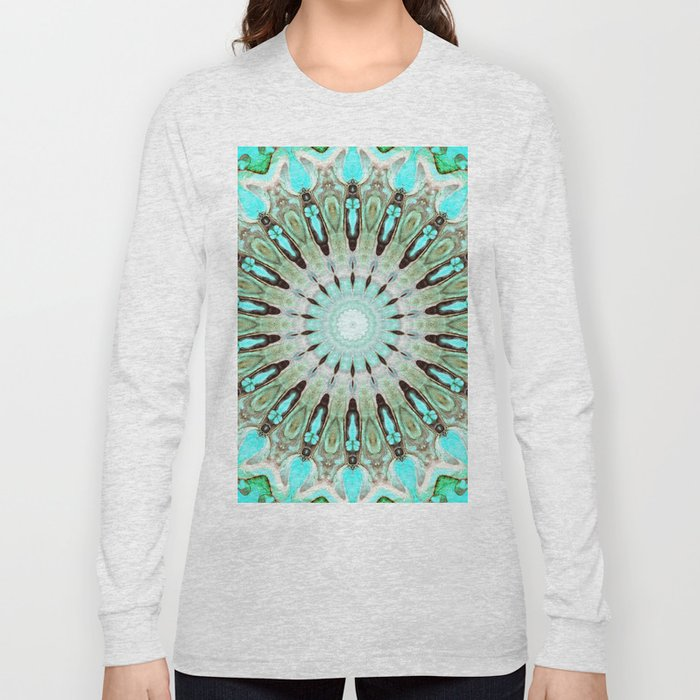 Tropical Floral Mandala Long Sleeve T-shirt