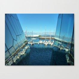 Harpa harbor Canvas Print