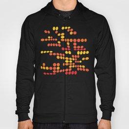 Dottywave - Orange Yellow wave dots pattern Hoody